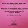 Parent Meeting September 22