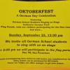 Oktoberfest Singing September 23