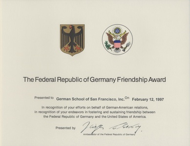 Friendship Award Small